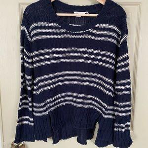 Navy & White Knit Sweater